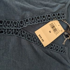 Lucky Brand Tops - NWT Lucky brand cutout lace peasant top